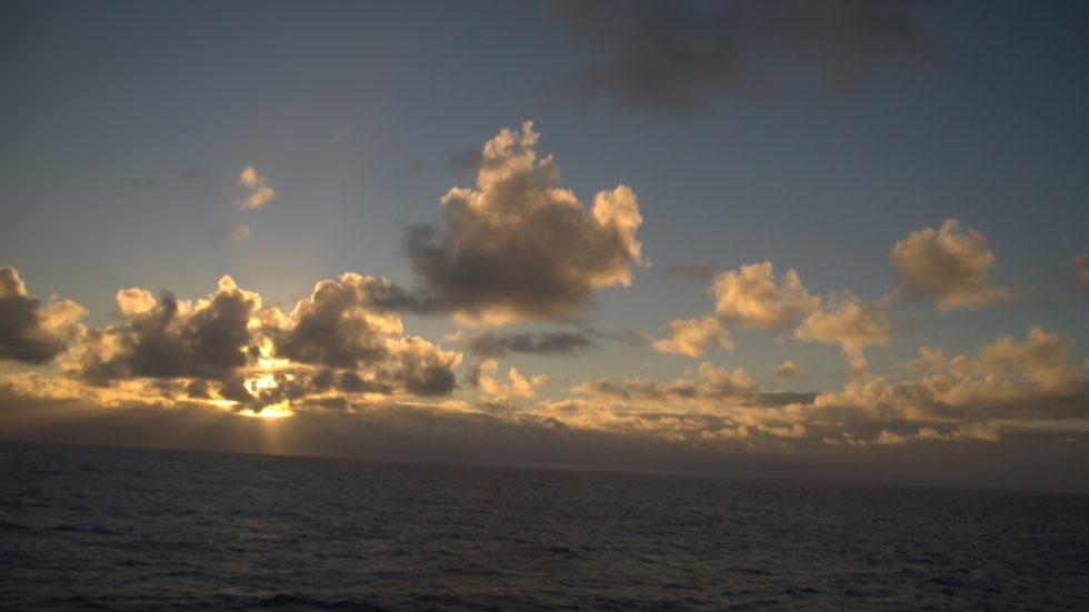 Aufnahme Meer Wolken