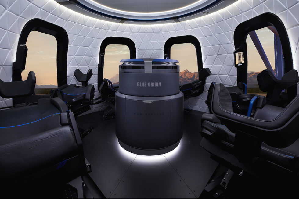 Kapsel Blue Origin sechs Sitze