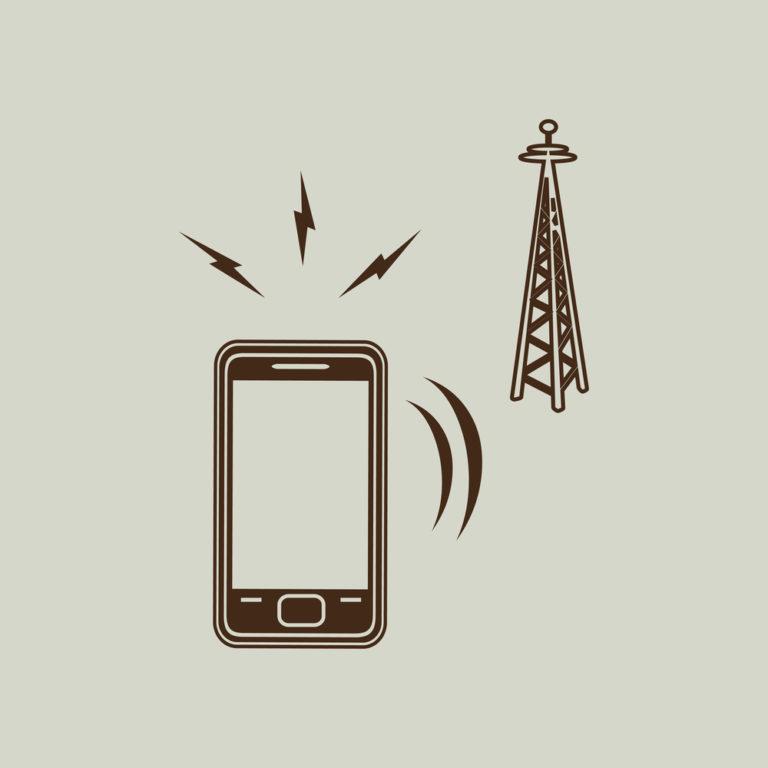 Grafik Funkmast Handy