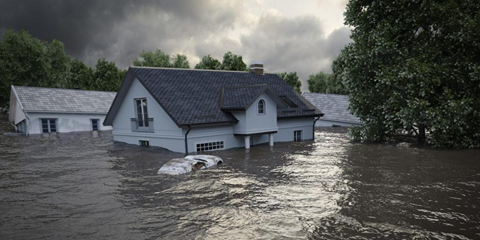 Haus im Hochwasser