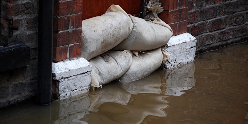 Sandsäcke Hochwasser