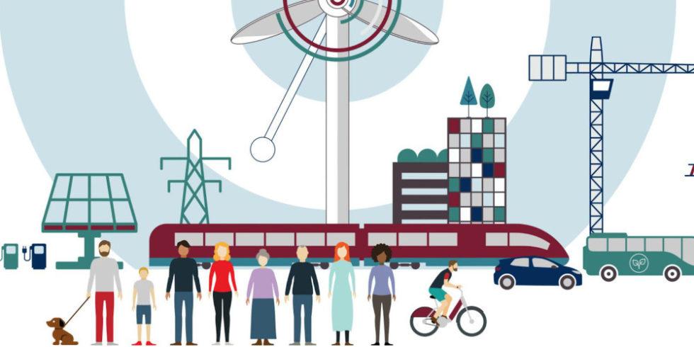 Illustration Umfrage Energiewende