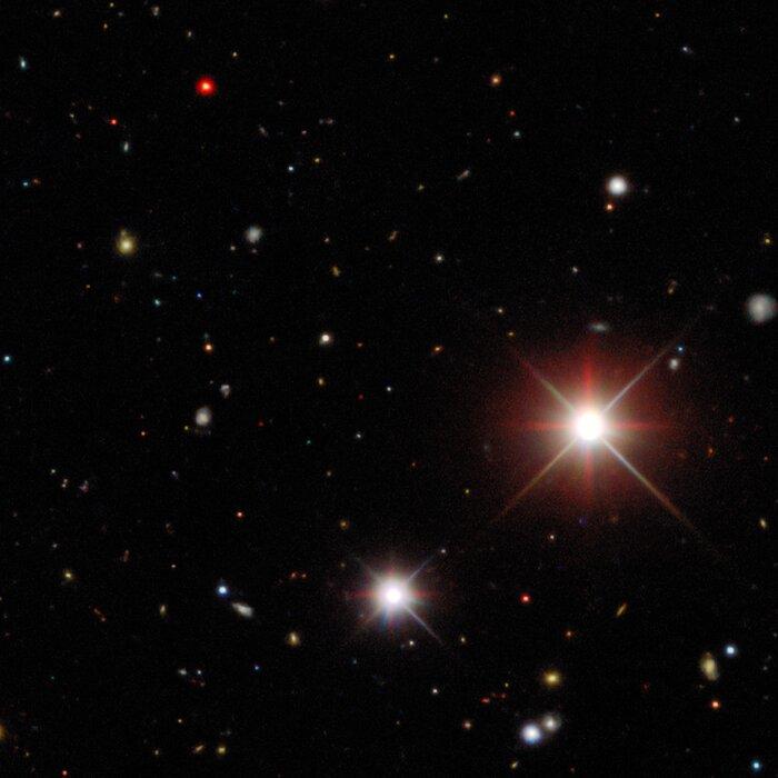 Entdeckungsaufnahme, die den Kometen Bernardinelli-Bernstein zeigt