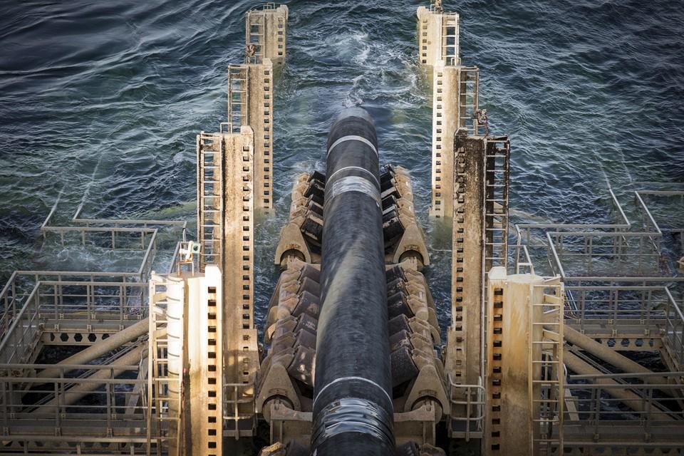Pipeline wird in schwedischen Gewässern verlegt.