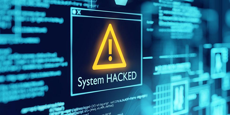 System hacked Bildschirm