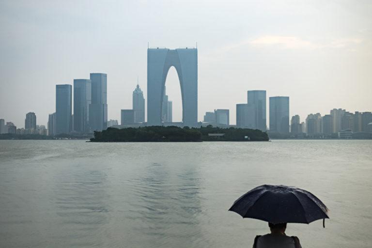 Blick auf Suzhou