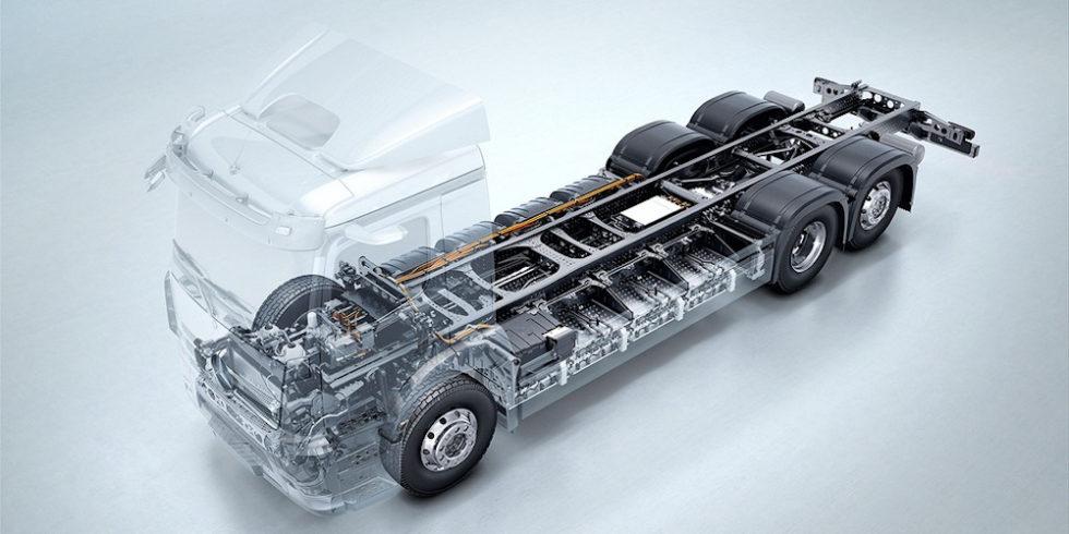 ilustr. ciężarówka elektryczna