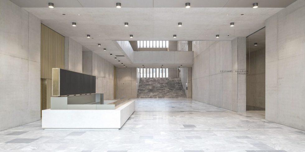 Das moderne Museumsgebäude zeichnet sich durch hervorragende Sichtbetonergebnisse im gesamten Gebäude aus. Foto: Juliet Haller / Amt für Städtebau Zürich