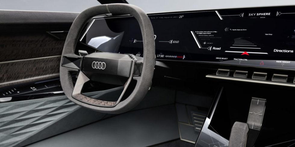 Das neue Konzept-Audi von Auto Innenraumansicht