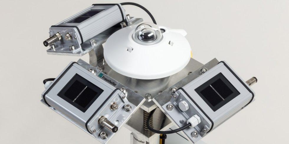 Größere Transparenz: Die vom Fraunhofer ISE entwickelten Messstationen sollen helfen die aus der Kraft der Sonne gewonnenen Erträge kalkulierbarer zu machen. Foto: Fraunfofer ISE
