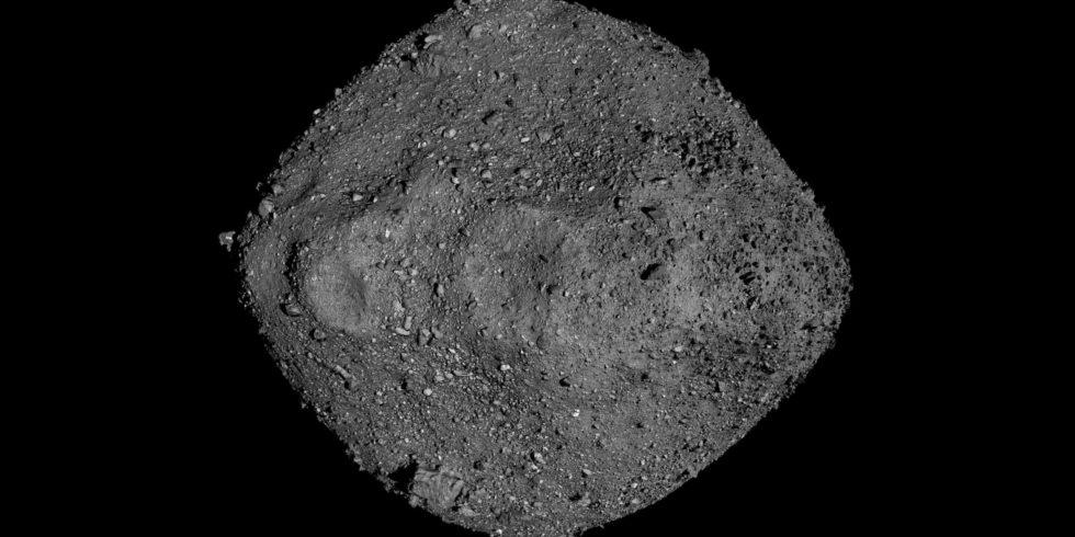 Asteroid Bennu kommt der Erde extrem nah. Die Wahrscheinlichkeit eines Einschlags ist gering – aber nicht ausgeschlossen. Foto: NASA/Goddard/University of Arizona