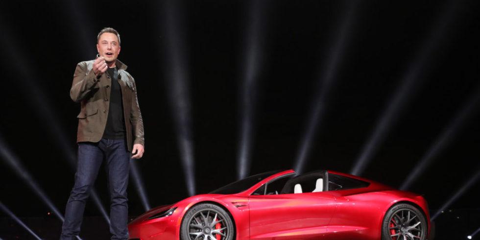 Tesla-Chef Elon Musk musste beim Gespräch mit CDU-Chef Armin Laschet herzhaft lachen. Foto/Archivbild: Tesla