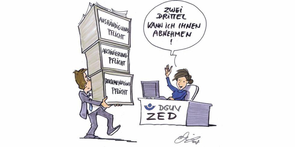Bild 1 Zentrale Expositionsdatenbank. Grafik: DGUV/Michael Hüter