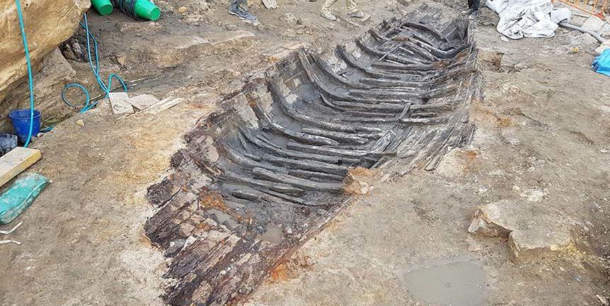 Fundstelle und Ausgrabungsort des Barangaroo Boat. Foto: Silentworld Foundation / Sydney Metro