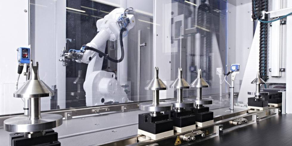 Die Werkzeugmaschinenindustrie kann für das zweite Quartal deutliches Wachstum verzeichnen - im Bild: Fertigungslinie von IMSTec. Foto: IMSTec/VDW