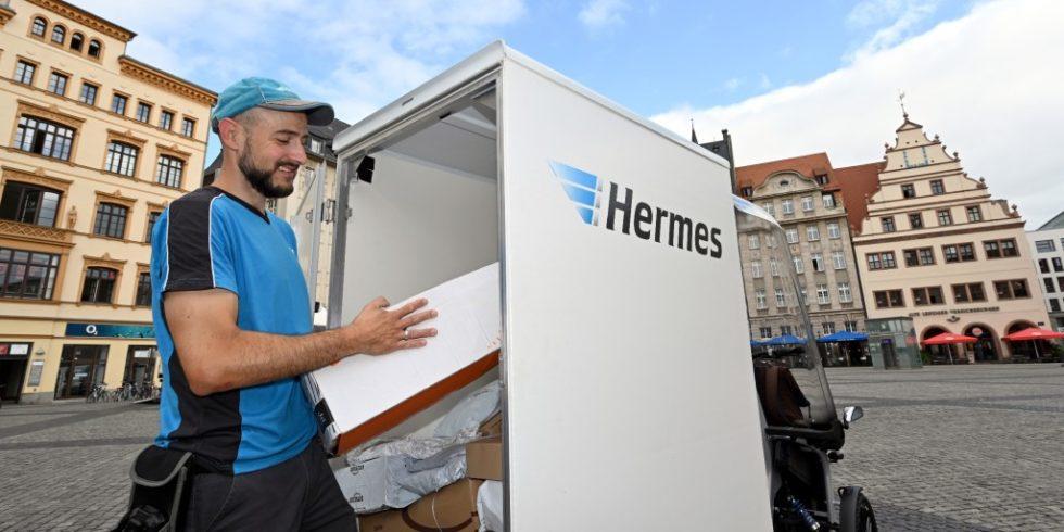 Rund 70 Sendungen wurden mit dem eCargo täglich im Schnitt ausgeliefert. Foto: Hermes