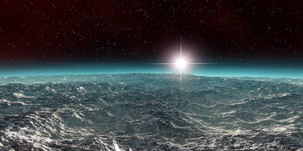Die sogenannten hyzeanischen Planeten sind von Ozeanen bedeckt. Bislang galten solche Exoplaneten als nicht bewohnbar. Ein Forschungsteam hat das nun offenbar widerlegt. Foto: panthermedia.net/GostonMoris