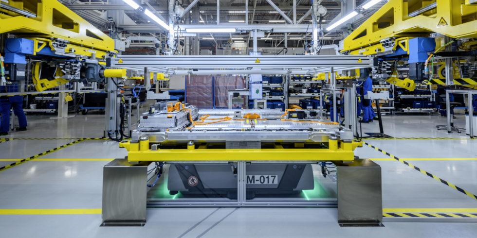 Fabrik Batterieproduktion