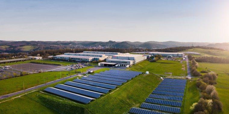 Luftaufnahme Batteriefertigung im Bosch-Werk Eisenach