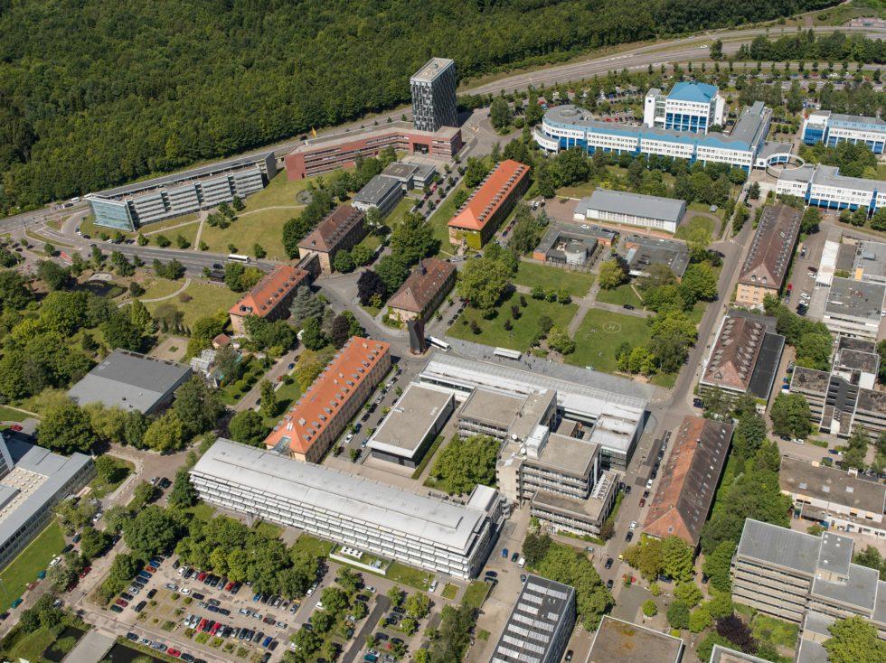 Uni-Campus in Saarbrücken von oben