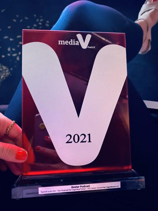 "Der mediaV Award 2021 in der Kategorie ""Bester Podcast"" geht an Technik aufs Ohr. Foto: privat"