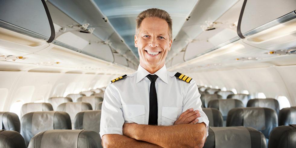 Pilot im Flieger
