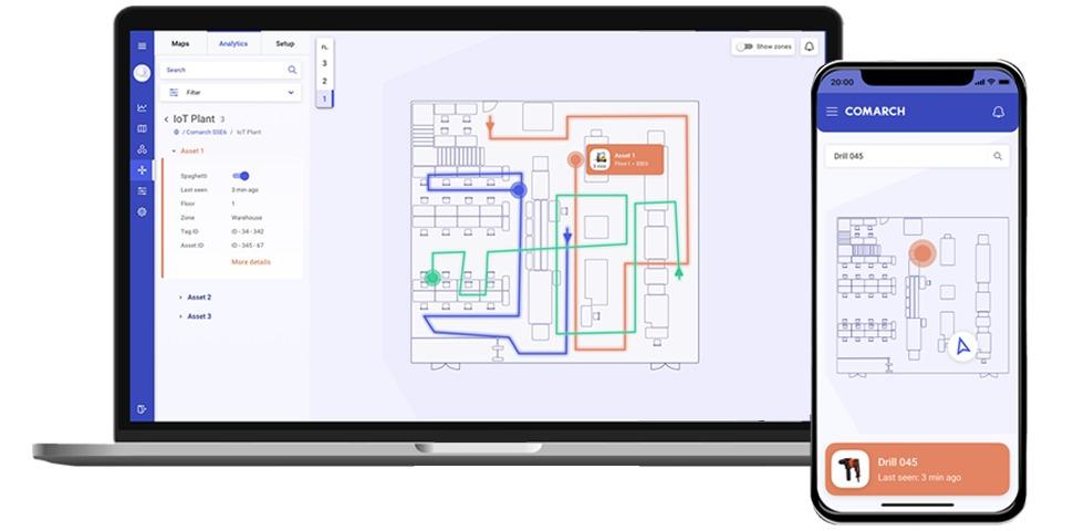 Analysetools (Spaghetti-Diagramme, Heatmaps, Routen) sowie regelmäßige Berichte schaffen die Grundlage, um den Einsatz von Maschinen zu optimieren und finanziellen Verlusten vorzubeugen.<br />Foto: Comarch AG