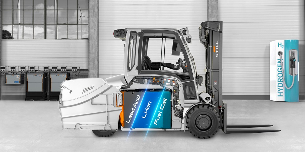 Blei-Säure-Batterie, Lithium-Ionen-Technologie oder Brennstoffzelle? Wer wirtschaftlich und effizient arbeiten will, muss das für seine jeweiligen Transportprozesse geeignete Energiesystem identifizieren. Foto: STILL