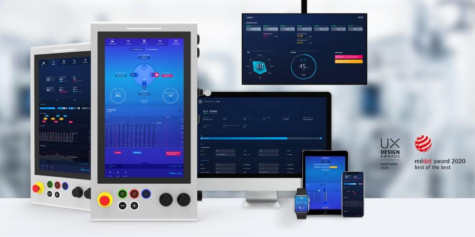 """Dashboards von """"Edna"""": Das modulare Software-Ökosystem besteht aus miteinander verbundenen Software- und Maschinenkomponenten, womit die Etablierung von Industrie-4.0.-Anwendungen in Fertigungsprozessen besonders schnell gelingt. Foto: Emag"""