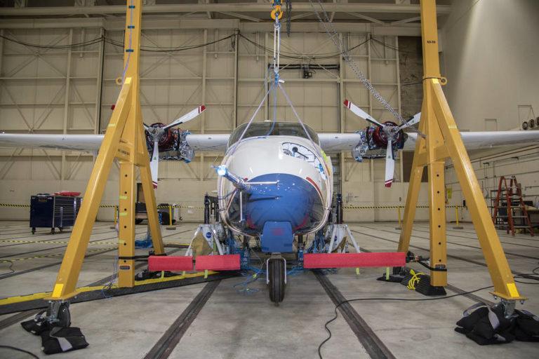 Das vollelektrische Flugzeug X57-Maxwell der Nasa. Foto: Nasa