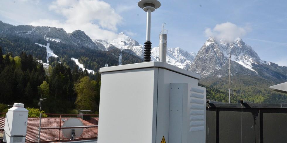 Die ePIN Pollenmessstation in Garmisch-Partenkirchen. Foto: Autoren