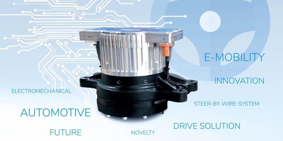Rein elektromechanisches Lenksystem für Nutzfahrzeuge von Nabtesco und adcos. In China laufen bereits die ersten Prototypen im Testbetrieb. Foto: Nabtesco Precision Europe GmbH