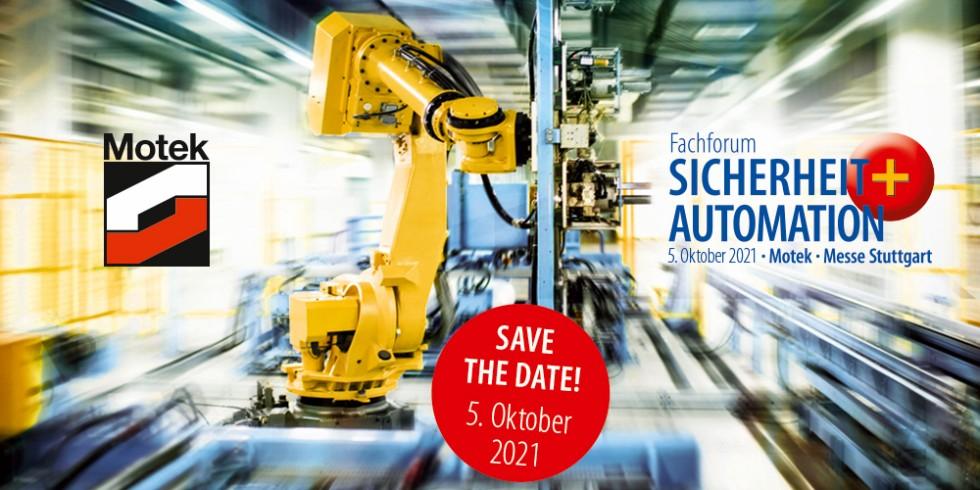 """Auf dem Fachforum Sicherheit + Automation 2021 auf der Motek informieren Experten aus Verbänden, Wissenschaft und Industrie über die wichtigen Themen der Automatisierungstechnik. Foto: Fachforum """"Sicherheit + Automation"""""""