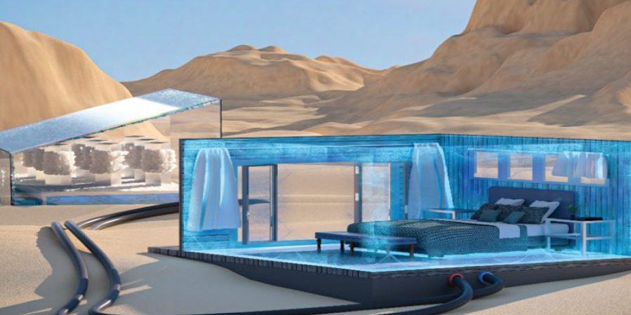 """Die """"Klimaanlage"""" könnte Räume stromlos und kostengünstig kühlen. Foto: KAUST"""