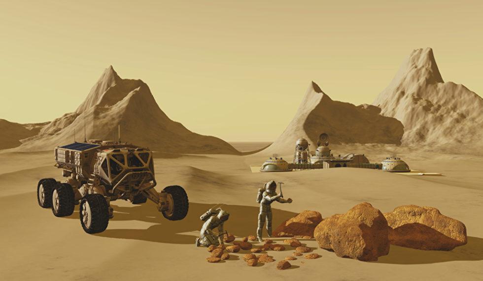 Die ersten Kolonisten könnten Marsgestein und eigene Körperflüssigkeiten verwenden, um Behausungen zu bauen. Foto: Panthermedia.net/Katmando