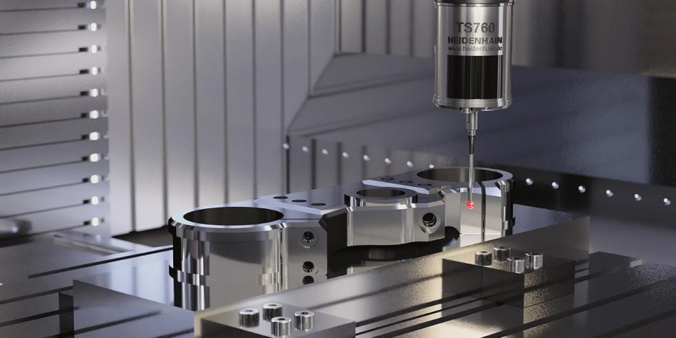 Eine EMO-Neuheit ist das Tastsystem TS 760: Es  tastet Werkstücke mit besonders hoher 3D-Genauigkeit und sehr geringen Kräften an, um Beschädigungen zu vermeiden. Foto: Heidenhain