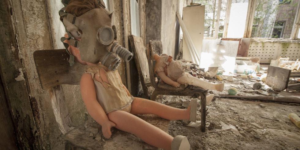 Ein verlassener Kindergarten in der Geisterstadt Prypjat nahe dem Atomkraftwerk Tschernobyl: Noch immer gibt es strahlende Staubpartikel rund um das Katastrophengebiet. Foto: Panthermedia.net/enolabrain