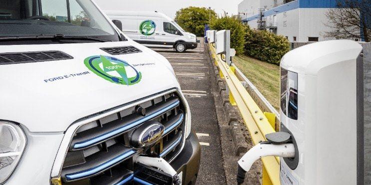 Vollelektrischer E-Transit. Ford will Tesla in den USA ablösen und den Übergang zur Elektromobilität an der Spitze gestalten. Foto: Ford