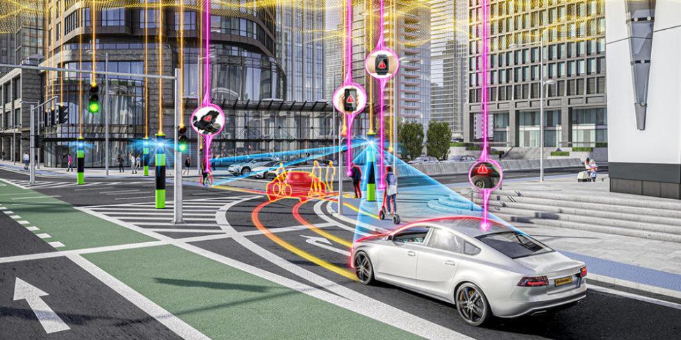 Kreuzung vernetztes Fahren
