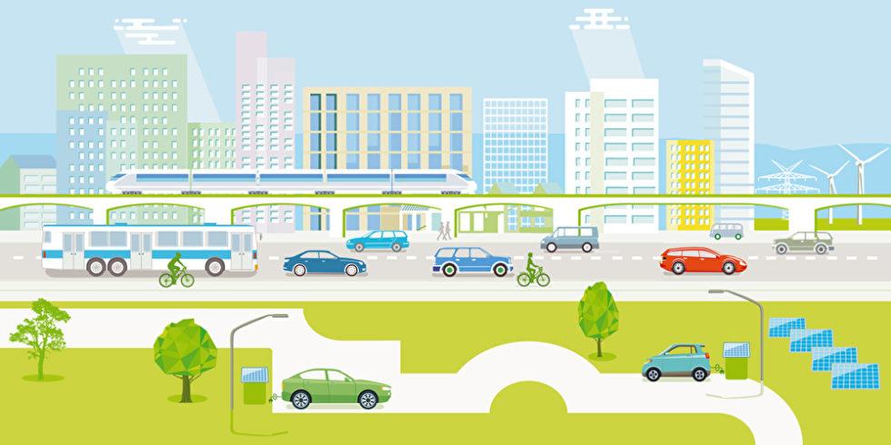 Modell einer intelligenten Stadt