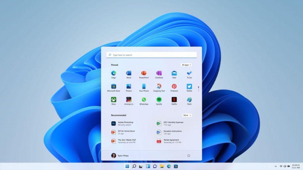 Windows 11 Startbildschirm