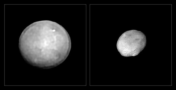 Ceres und Vesta nebeneinander