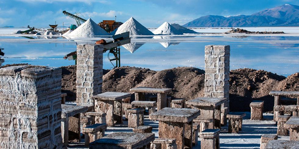 Blick Bergwerk See Lithium