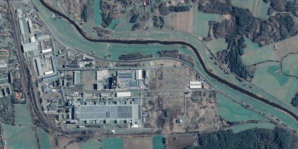 Standort im Industriegebiet Guben Süd Luftaufnahme